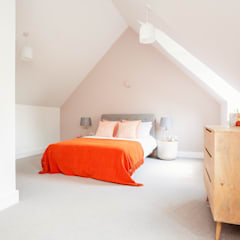 Dry Drayton Show-home:  Bedroom by Sara Slade Interiors
