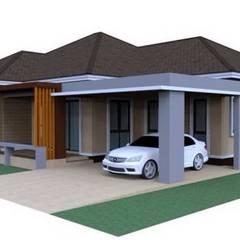 งานโครงสร้าง:  บ้านสำหรับครอบครัว by ภาคิน การช่าง