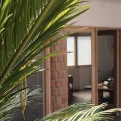 Casa AT: Paredes de estilo  por Taller de Arquitectura Bioclimática +3d