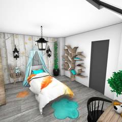 Appartement: Chambre d'enfant de style  par Crhome Design, Moderne