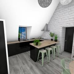 Appartement végétal: Cuisine de style  par Crhome Design