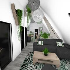 Appartement végétal: Salon de style  par Crhome Design