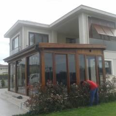 AHŞAP SEPETİ – Ahşap sundurma uygulama: modern tarz Bahçe
