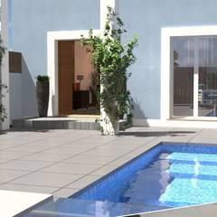 Garden Pool by perez ipar arquitectura  e decoração