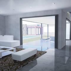 House De Souza Modern living room by A4AC Architects Modern Ceramic