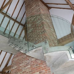 Frameless Bolted Glass Balustrade:  Stairs by Ion Glass