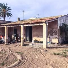 Rehabilitación de una casa típica de la huerta mediterránea: Casas de estilo  de Francisco Pomares Arquitecto / Architect, Rural