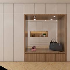 Casa na Freiria | Design Interior: Corredores e halls de entrada  por DR Arquitectos