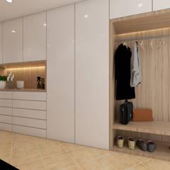 Corridor, hallway by DR Arquitectos