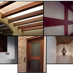 Detalles interiores : Estudios y oficinas de estilo rústico por Forma y Función