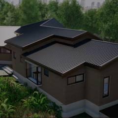 Chalets de estilo  por Nomade Arquitectura y Construcción spa
