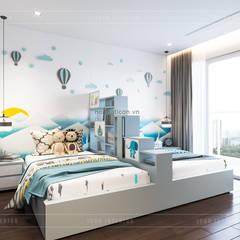 THIẾT KẾ BIỆT THỰ PALM CITY - Nét đẹp giao hòa trong không gian sống hiện đại:  Phòng trẻ em by ICON INTERIOR,