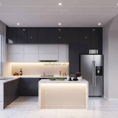 THIẾT KẾ BIỆT THỰ PALM CITY - Nét đẹp giao hòa trong không gian sống hiện đại:  Nhà bếp by ICON INTERIOR