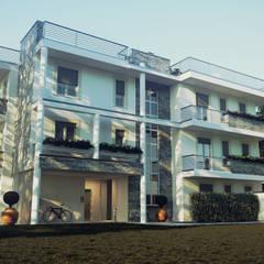 Prospetto Nord: Condominio in stile  di Studio Corbetta architettura e design