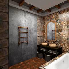 Эклектика в частном доме : Ванные комнаты в . Автор – Дизайнер Татьяна Волкова