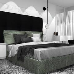 Sypialnia: styl , w kategorii Sypialnia zaprojektowany przez 91m2 Architektura Wnętrz
