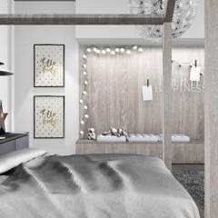 MIESZKANIE W KRAKOWIE_68m2: styl , w kategorii Pokój dziecięcy zaprojektowany przez 91m2 Architektura Wnętrz