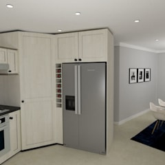New kitchen & Dining Addition:  Dining room by A4AC Architects