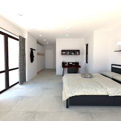 Eldoglen Estate Additions:  Bedroom by A4AC Architects, Modern Tiles