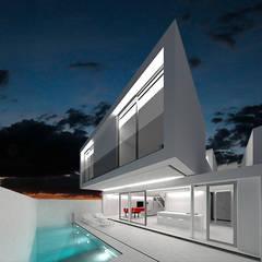 PISCINA CASA HEN: Casas unifamilares de estilo  de VALEROYOCHANDO arquitectura