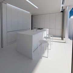 COCINA CASA HEN: Casas unifamilares de estilo  de VALEROYOCHANDO arquitectura