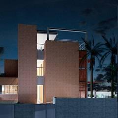 ACCESO CASA IBARRA: Casas unifamilares de estilo  de VALEROYOCHANDO arquitectura