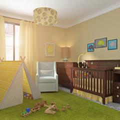 ¿Necesitas ayuda con la habitación de tu bebé?: Dormitorios infantiles de estilo  de Glancing Eye - Diseños 3D