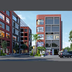 Exterior 3D Still Rendering - Commercial Projects:  Offices & stores by MI Studio LLP