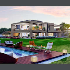 Exterior 3D Still Rendering - Residential Projects:  Houses by MI Studio LLP