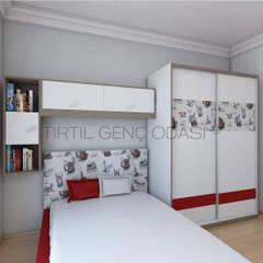 Tırtıl Genç ve Çocuk Odası – Popart İstanbul Desenli Yatak Dolap:  tarz Erkek çocuk yatak odası