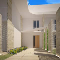 ad Vicum: Ingresso & Corridoio in stile  di mera architetti