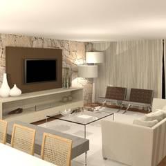 Habitação Arnoso SE: Salas de estar modernas por Opus-Mater atelier