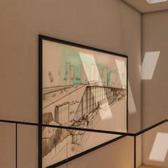 Interior de escalera: Pasillos y recibidores de estilo  por DUSINSKY S.A.