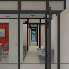 Pasillo vinculante: Pasillos y recibidores de estilo  por DUSINSKY S.A.
