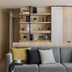 اتاق نشیمن توسط詩賦室內設計, اسکاندیناویایی