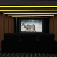 INTERIOR DESIGN PROJECT:  Media room by FORM SPACE ARCHITECTURAL STUDIO