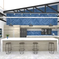 Kitchen:  Built-in kitchens by A4AC Architects