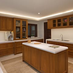 LP House: Dapur oleh ARF interior, Klasik Kayu Wood effect