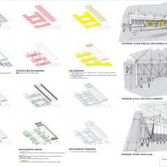 CONCURSO NACIONAL DE ANTEPROYECTOS NUEVO EDIFICIO ESCUELA PROVINCIAL DE ARTES VISUALES N° 3031 : Salas multimedia de estilo  por Mauricio Morra Arquitectos,