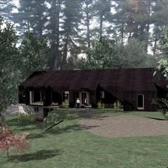 VISTA ACCESO: Casas de estilo rural por KOMMER ARQUITECTOS