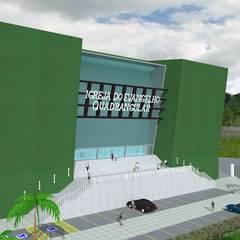Vista do pátio : Locais de eventos  por Arquiteto Ivan Rocha