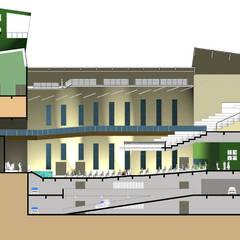 Perfil longitudinal: Locais de eventos  por Arquiteto Ivan Rocha
