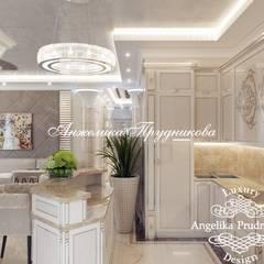 Дизайн интерьера квартиры в ЖК Montblanc в г.Новосибирск: Столовые комнаты в . Автор – Дизайн-студия элитных интерьеров Анжелики Прудниковой