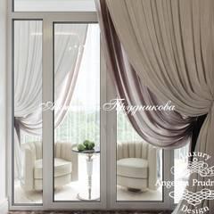 Дизайн интерьера квартиры в ЖК Montblanc в г.Новосибирск: Окна в . Автор – Дизайн-студия элитных интерьеров Анжелики Прудниковой