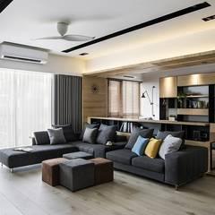 غرفة المعيشة تنفيذ 詩賦室內設計 , إسكندينافي