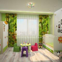 Dormitorios juveniles  de estilo  por Архитектурное Бюро 'Капитель'