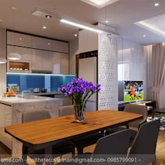 Không gian bếp và bàn ăn:  Nhà bếp by Công Ty TNHH Xây Dựng & Nội Thất ECO Việt Nam