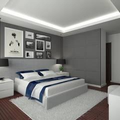 FA - Fehmi Akpınar İç Mimarlık  – Yatak odası tasarım:  tarz Yatak Odası,