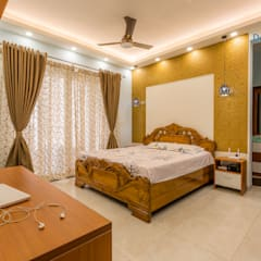 Vaishnavi Terraces, 3 BHK - Ms. Supriya:  Bedroom by DECOR DREAMS