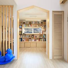 아토피 낫게한 홍성 우리집: 주택설계전문 디자인그룹 홈스타일토토의  서재 & 사무실